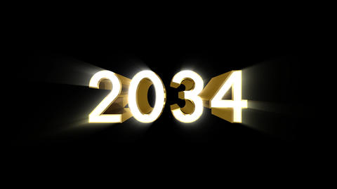 Year 2034 a HD Stock Video Footage