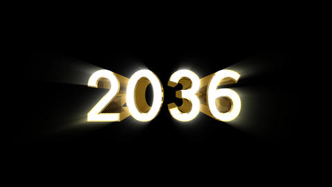 Year 2036 a HD Stock Video Footage