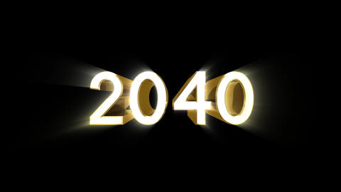 Year 2040 a HD Stock Video Footage