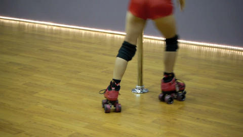 Roller skating Stock Video Footage