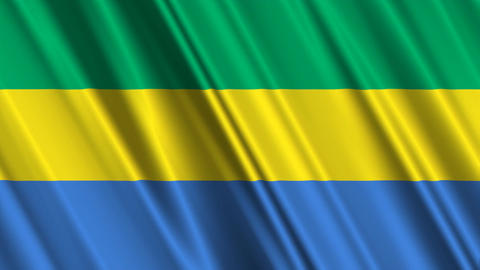 GabonFlagLoop01 Stock Video Footage