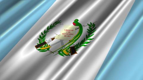 GuatemalaFlagLoop02 Stock Video Footage
