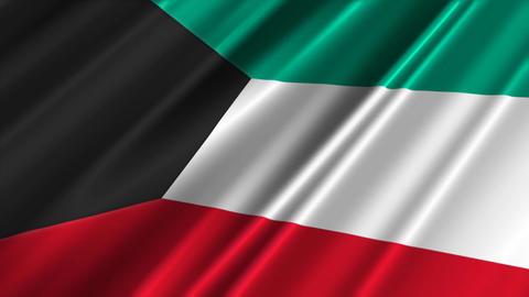 KuwaitFlagLoop02 Stock Video Footage