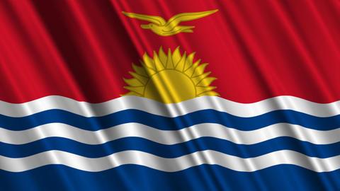 KiribatiFlagLoop01 Stock Video Footage
