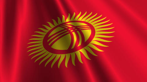 KyrgyzstanFlagLoop03 Animation