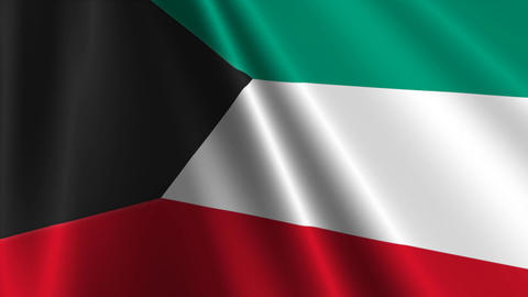 KuwaitFlagLoop03 Stock Video Footage