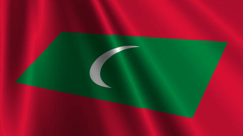 MaldivesFlagLoop03 Stock Video Footage