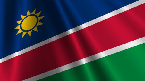 NamibiaFlagLoop03 Stock Video Footage