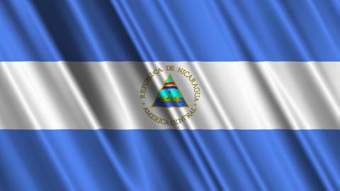 NicaraguaFlagLoop01 Stock Video Footage
