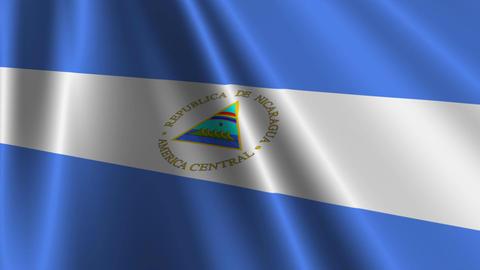 NicaraguaFlagLoop03 Stock Video Footage