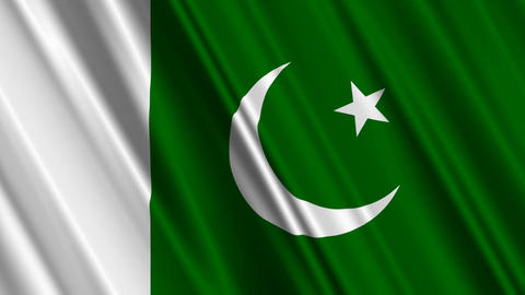 PakistanFlagLoop01 Stock Video Footage
