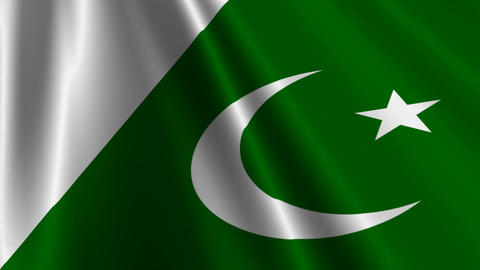 PakistanFlagLoop03 Stock Video Footage