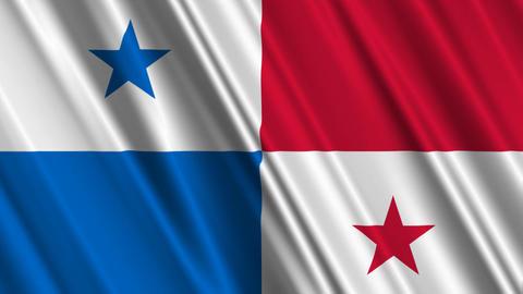 PanamaFlagLoop01 Stock Video Footage