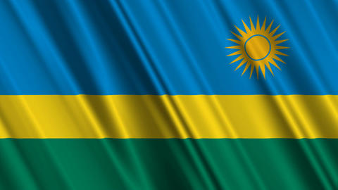 RwandaFlagLoop01 Stock Video Footage