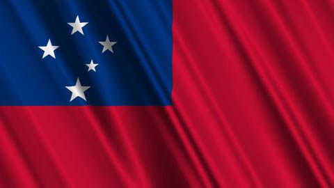SamoaFlagLoop01 Stock Video Footage