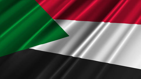 SudanFlagLoop02 Stock Video Footage