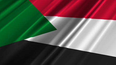 SudanFlagLoop02 Stock Video Footage