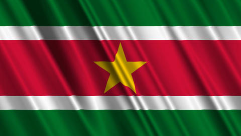 SurinameFlagLoop01 Stock Video Footage