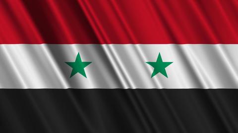 SyriaFlagLoop01 Stock Video Footage