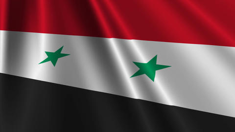 SyriaFlagLoop03 Stock Video Footage