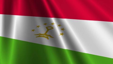 TajikistanFlagLoop03 Stock Video Footage