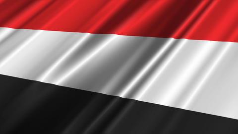 YemenFlagLoop02 Stock Video Footage