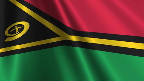 VanuatuFlagLoop03 Stock Video Footage