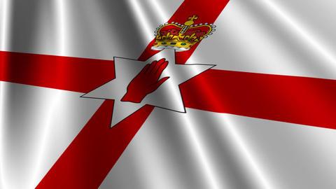 UlsterBannerNorthernIrelandFlagLoop03 Stock Video Footage