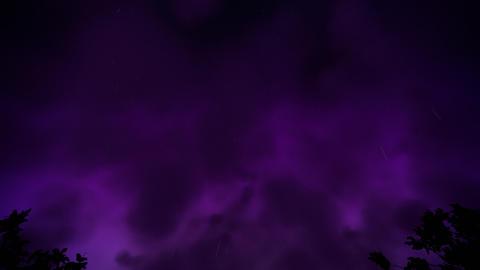 Night storm loop Animation