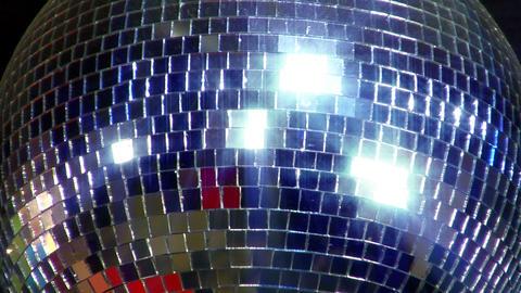 disco mirror ball center glitter Stock Video Footage