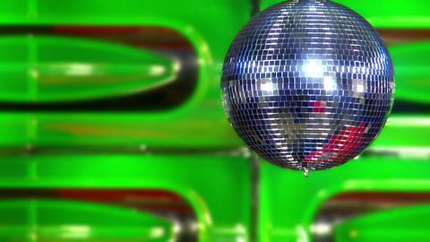 disco mirror ball green fast Footage