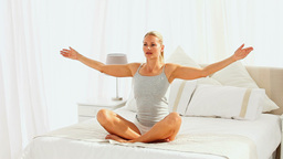 Woman doing exercises of relaxation Footage