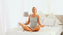 Woman doing exercises of relaxation Stock Video Footage
