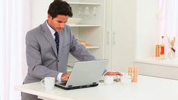 Elegant business man working Stock Video Footage