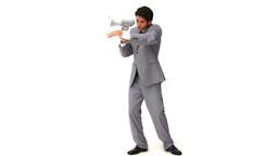 Elegant business man shouting Footage