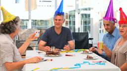 Friends on Birthday Stock Video Footage