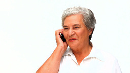Senior woman phoning Footage