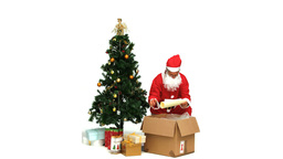 Santa Claus taking presents Stock Video Footage