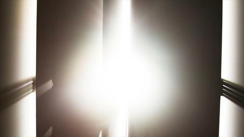 Walking into Heaven Door Glowing Stock Video Footage
