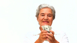 Mature woman holding notes Footage
