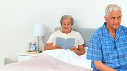 Mature couple in their bedroom Footage