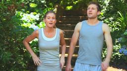 Attractive couple jogging Footage