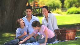 Cute family having a picnic Stock Video Footage