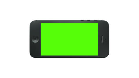 3D Smart Phone Animation with Green Screen Stock Video Footage