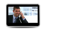 Montage of business people phoning Animation