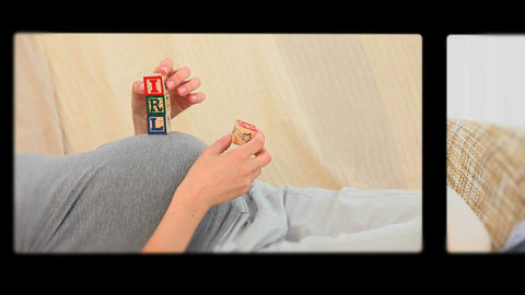 Montage of pregnant women Animation