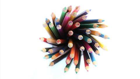 Color pencils Stock Video Footage