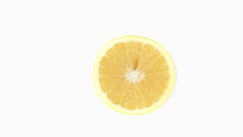 Half a lemon rotating Footage