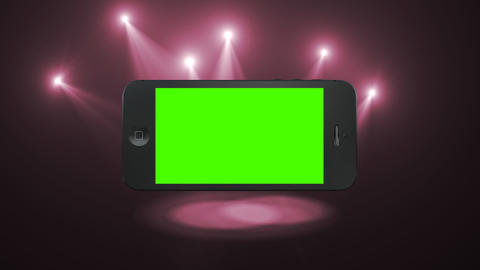 Smart Phone Animation with Green Screen and Alpha Footage
