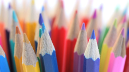 Top of color pencils turning in a pencil holder Stock Video Footage